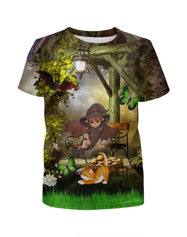 printio футболка с полной запечаткой для девочек сказочная летучая мышь Printio Футболка с полной запечаткой для девочек Мир фэнтези