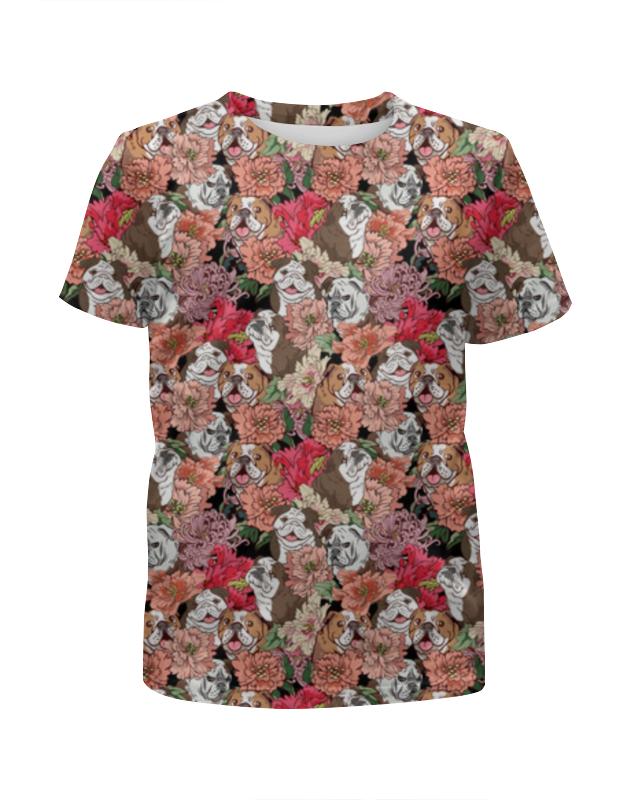 Printio Футболка с полной запечаткой для девочек Dogs and flowers printio футболка с полной запечаткой для девочек astronaut angels and airwaves