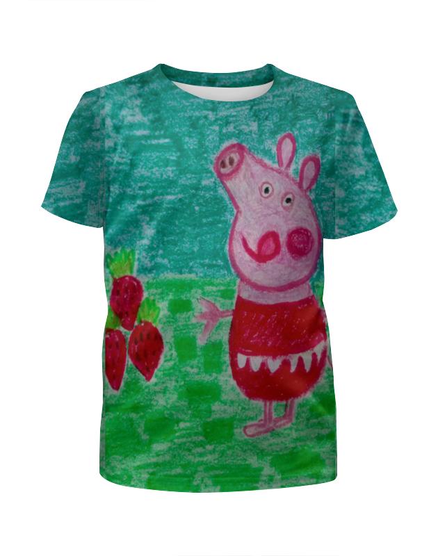 Фото - Printio Футболка с полной запечаткой для девочек Свинка printio футболка с полной запечаткой для девочек лис ест суши