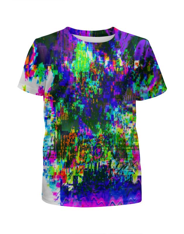 Printio Футболка с полной запечаткой для девочек Узор красок printio футболка с полной запечаткой для девочек оттенки красок