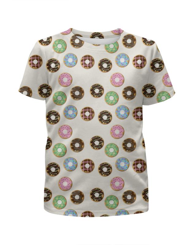 printio футболка с полной запечаткой женская сладкие губки Printio Футболка с полной запечаткой для девочек Сладкие пончики