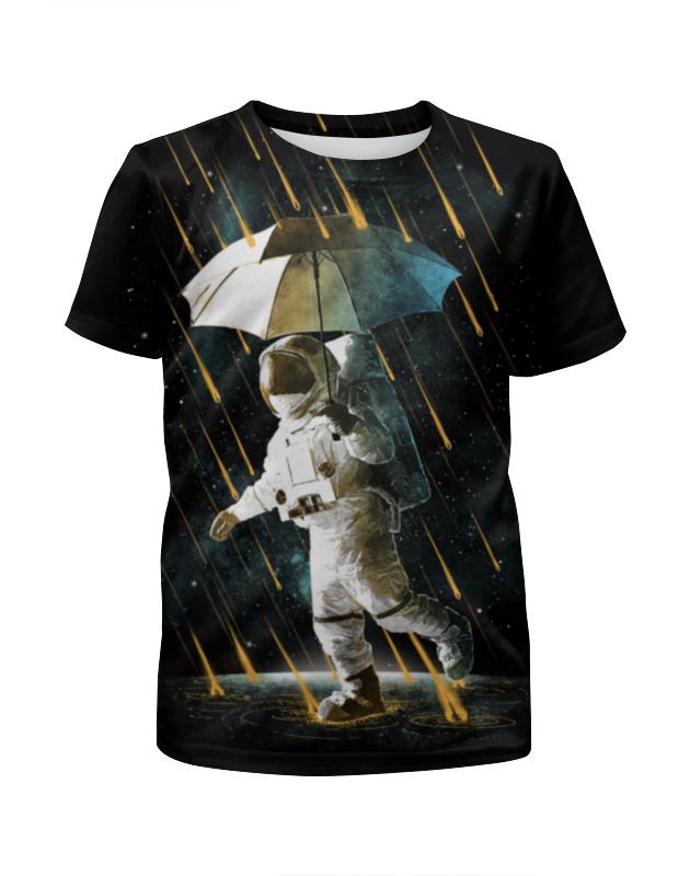 Printio Футболка с полной запечаткой для девочек Метеоритный дождь
