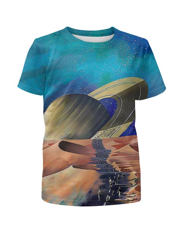 Printio Футболка с полной запечаткой для девочек Сатурн