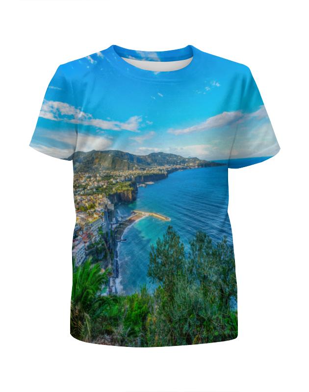 printio футболка с полной запечаткой для девочек город Printio Футболка с полной запечаткой для девочек Город на берегу