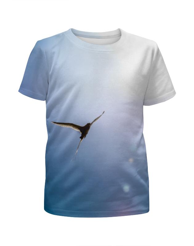 Printio Футболка с полной запечаткой для девочек Птица, летящая к солнцу