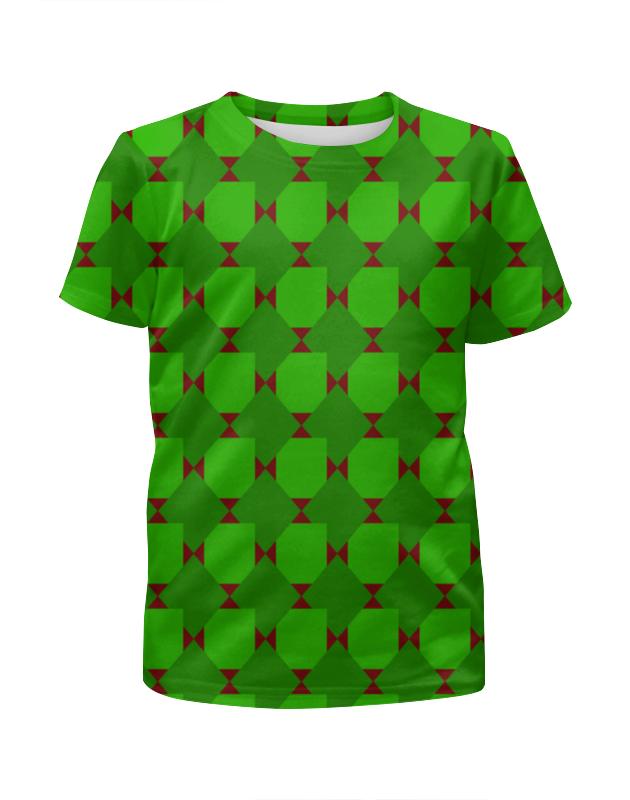 Printio Футболка с полной запечаткой для девочек Зеленые ромбы фото