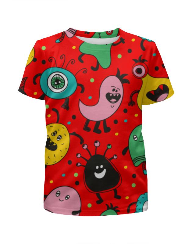 Printio Футболка с полной запечаткой для девочек Смешные монстры printio футболка с полной запечаткой для мальчиков смешные панды