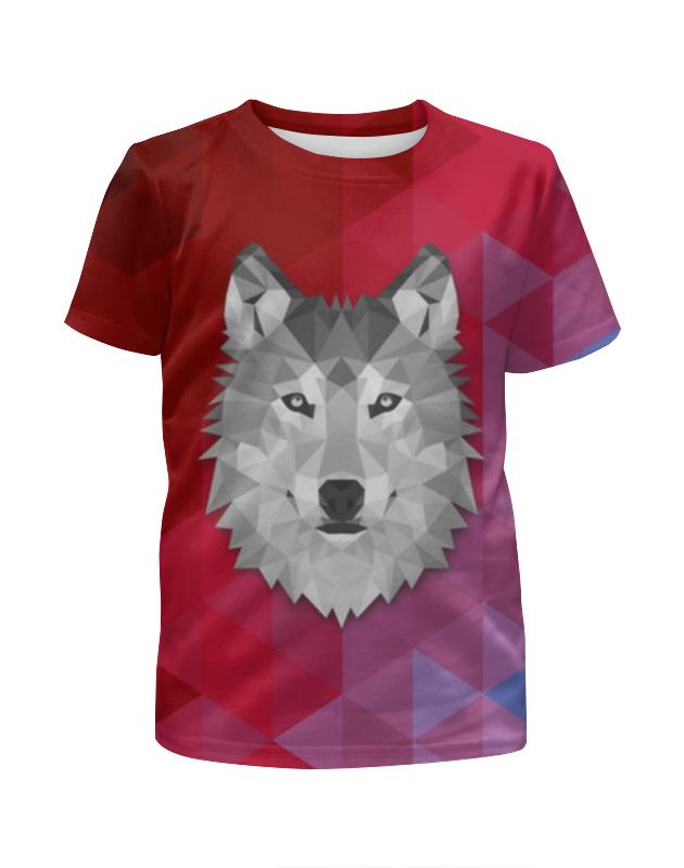 Printio Футболка с полной запечаткой для девочек Полигональный волк