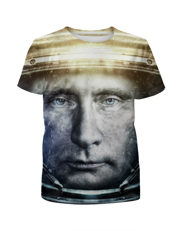 Printio Футболка с полной запечаткой для девочек Президент россии