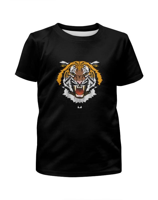 Printio Футболка с полной запечаткой для девочек Охрана-тигр