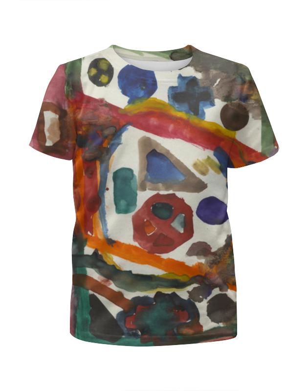 Printio Футболка с полной запечаткой для девочек Рисунки акварелью, геометрические фигуры