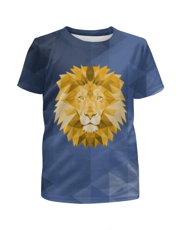 Printio Футболка с полной запечаткой для девочек Полигональный лев
