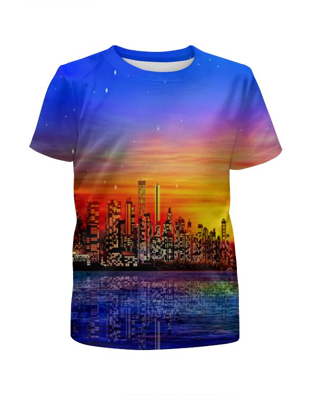 printio футболка с полной запечаткой для девочек город Printio Футболка с полной запечаткой для девочек Город