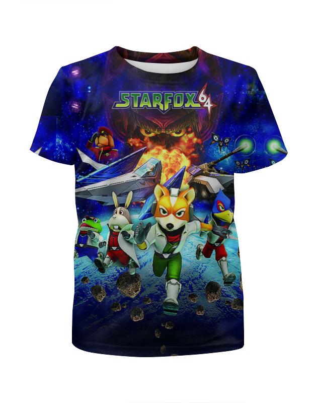 футболка с полной запечаткой для девочек printio star wars звездные войны Printio Футболка с полной запечаткой для девочек Star fox