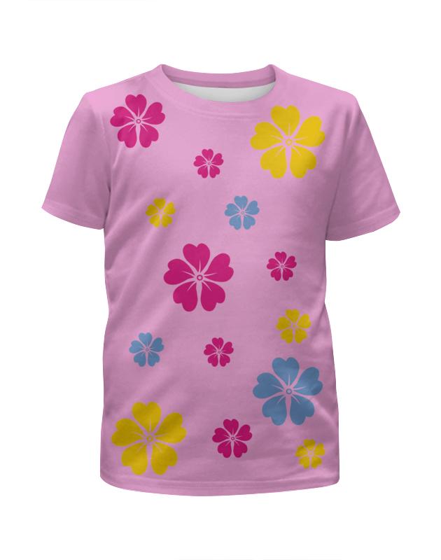Printio Футболка с полной запечаткой для девочек Полянка с цветами
