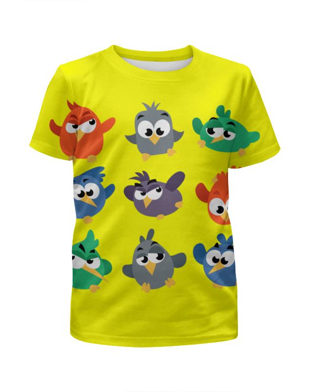 Printio Футболка с полной запечаткой для девочек Смешные птички printio футболка с полной запечаткой для мальчиков смешные панды