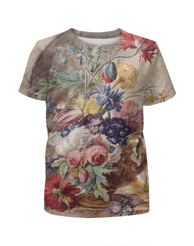Printio Футболка с полной запечаткой для девочек Цветочный натюрморт (ян ван хёйсум) printio открытка цветочный натюрморт ян ван хёйсум