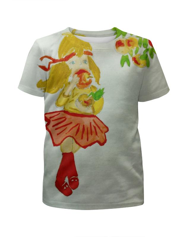 Фото - Printio Футболка с полной запечаткой для девочек Яблочко printio футболка с полной запечаткой для девочек лис ест суши