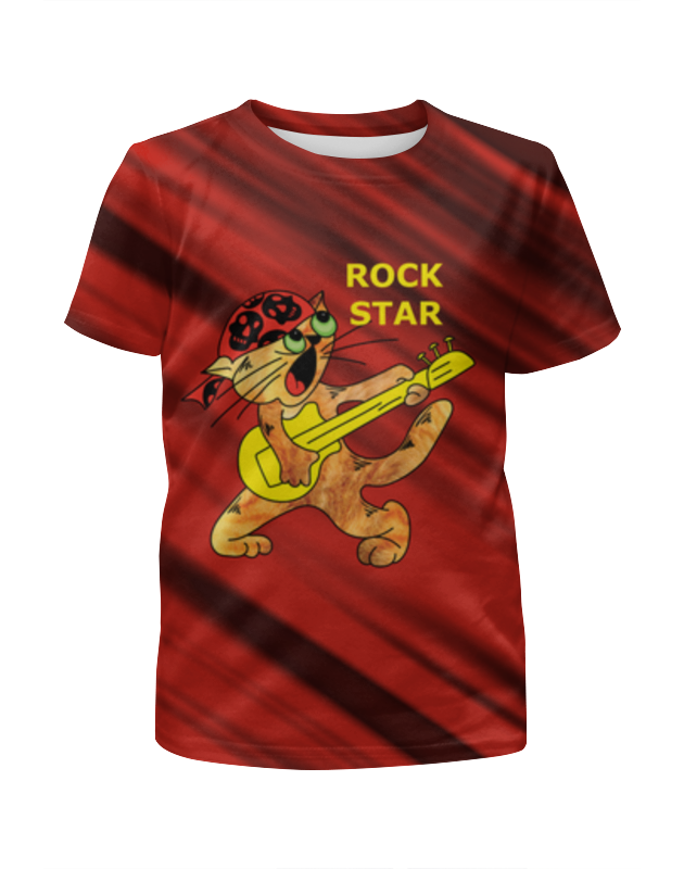 футболка с полной запечаткой для девочек printio star wars звездные войны Printio Футболка с полной запечаткой для девочек Rock star