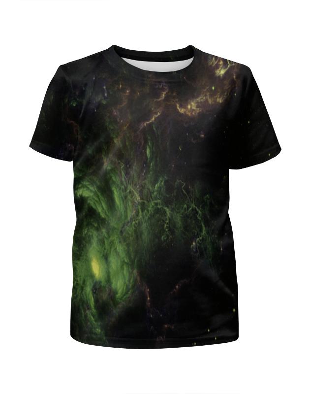 футболка с полной запечаткой для девочек printio star wars звездные войны Printio Футболка с полной запечаткой для девочек Star green