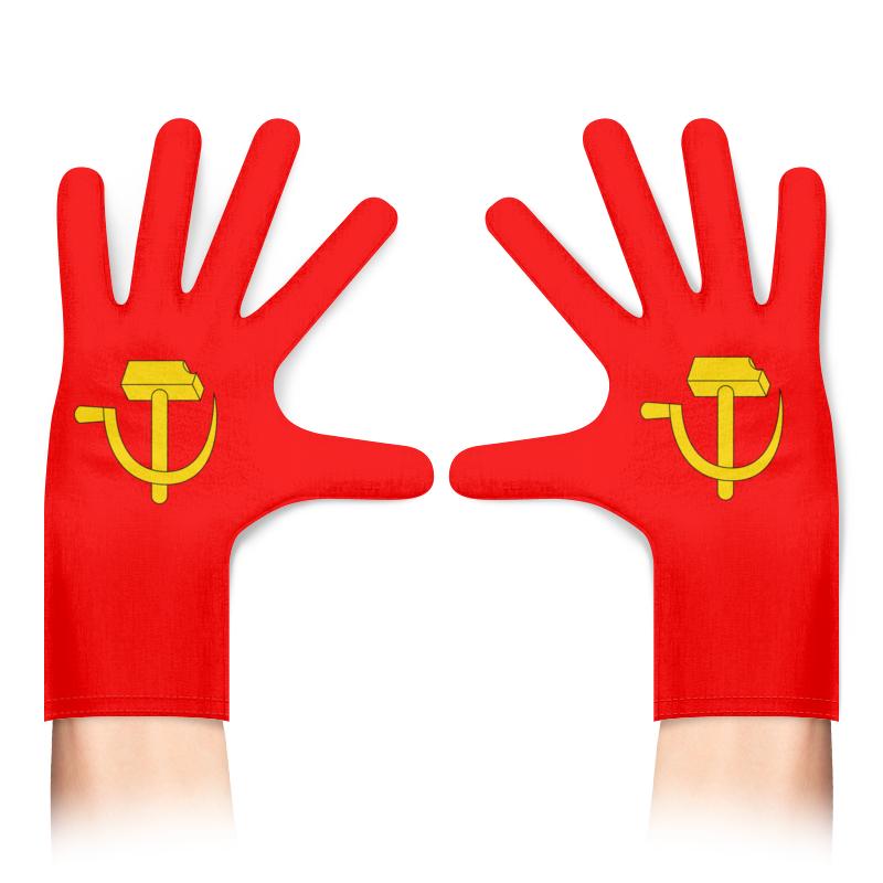 Printio Перчатки с полной запечаткой ссср советская символика 80х ретро красные