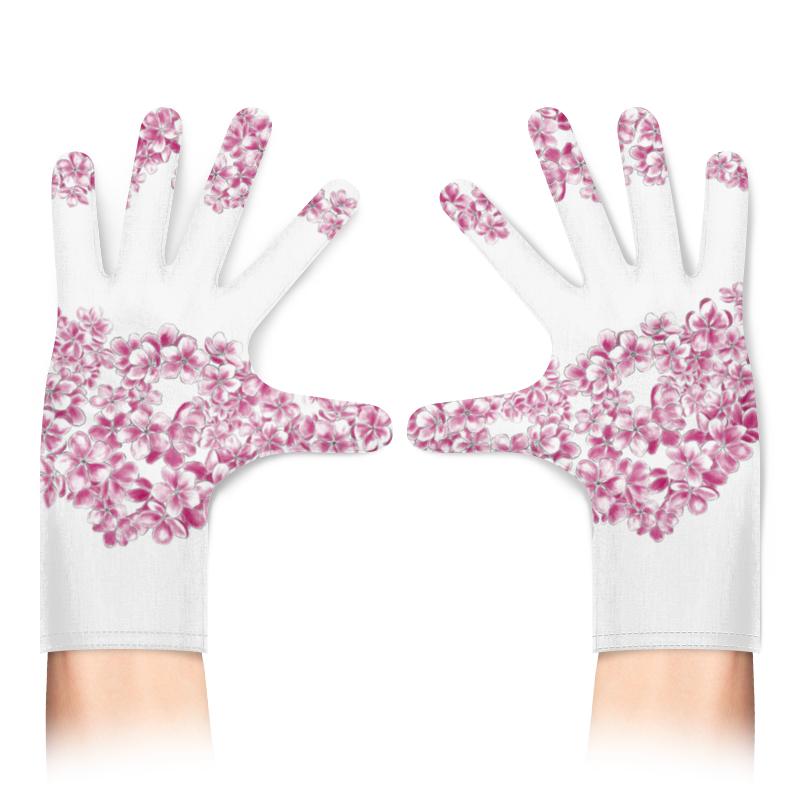 Printio Перчатки с полной запечаткой Цветущая вишня фото