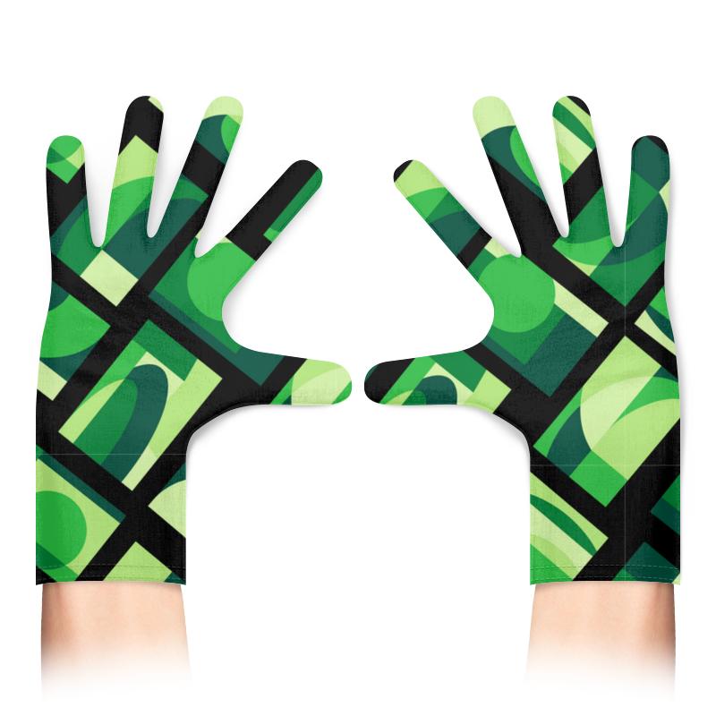 Printio Перчатки с полной запечаткой Зеленая абстракция