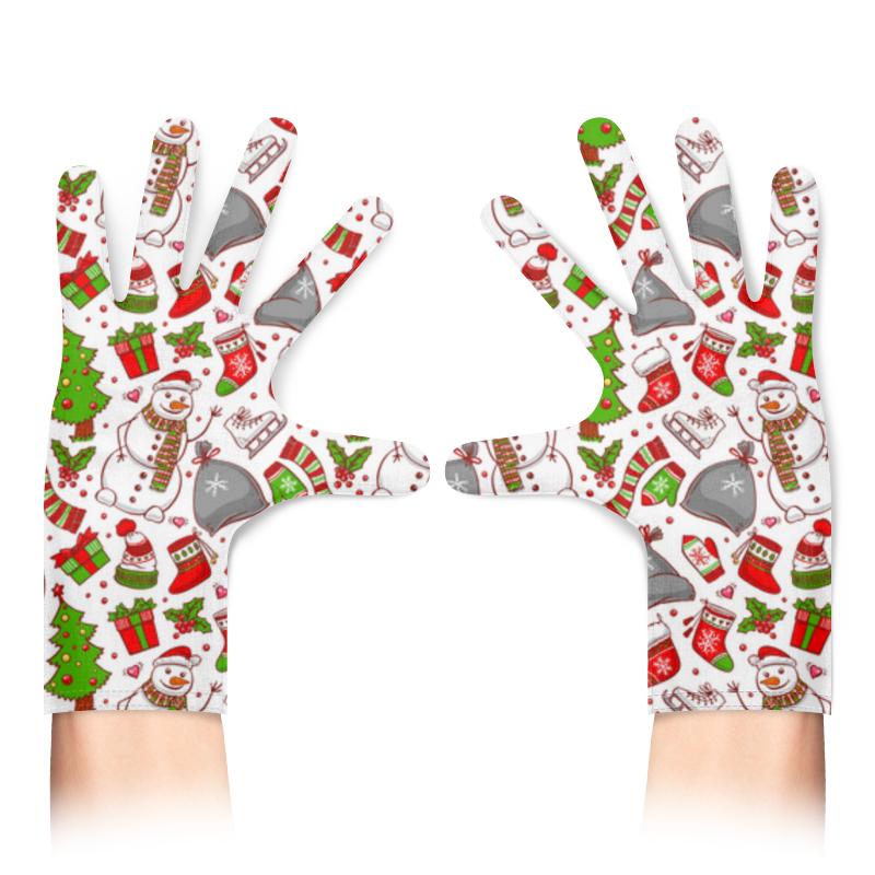 Printio Перчатки с полной запечаткой Новогодний фон printio перчатки с полной запечаткой новогодний фон
