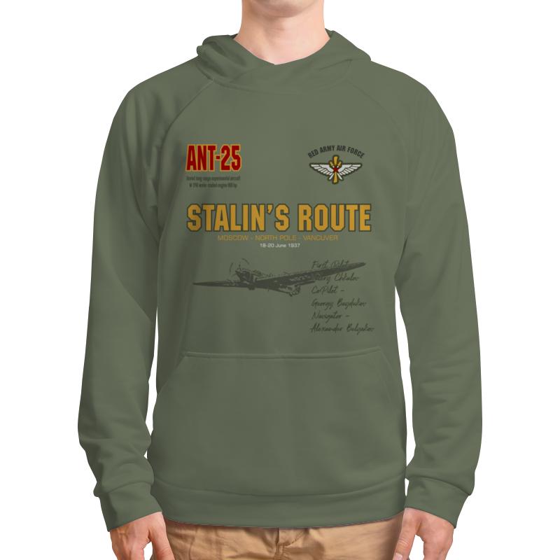 Printio Толстовка с полной запечаткой Сталинский маршрут