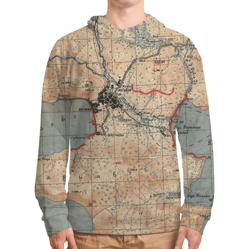 Printio Толстовка с полной запечаткой Карта магадана