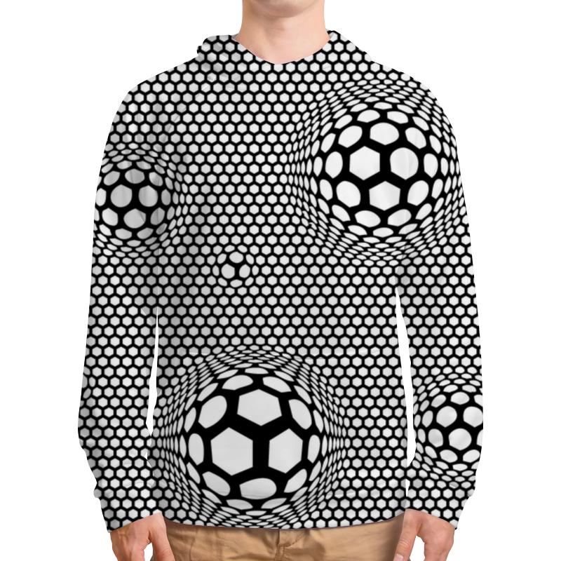 Printio Толстовка с полной запечаткой Футбольные мячи