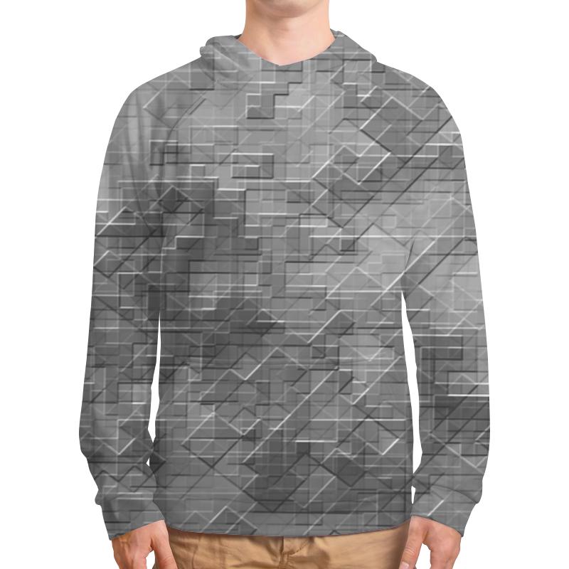 Printio Толстовка с полной запечаткой Пиксель-арт. черно-белый паттерн