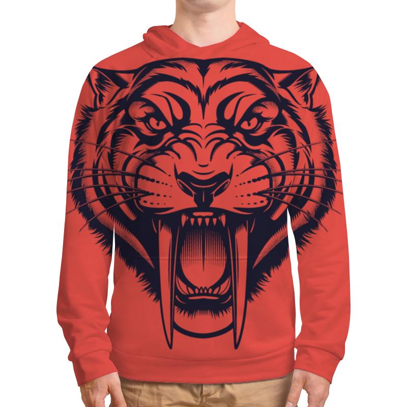 Printio Толстовка с полной запечаткой Саблезубый тигр