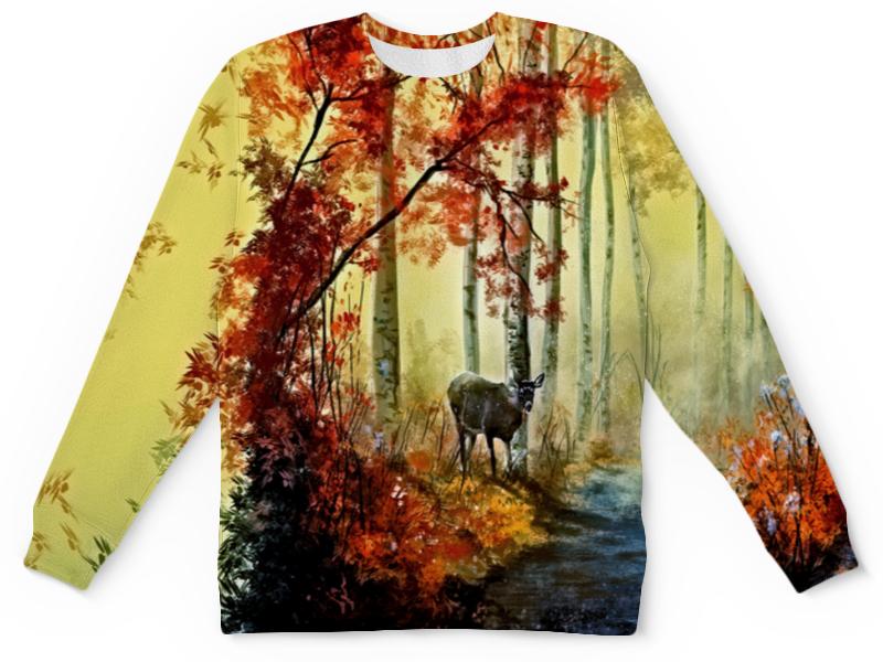 Printio Детский свитшот с полной запечаткой Осенняя роща