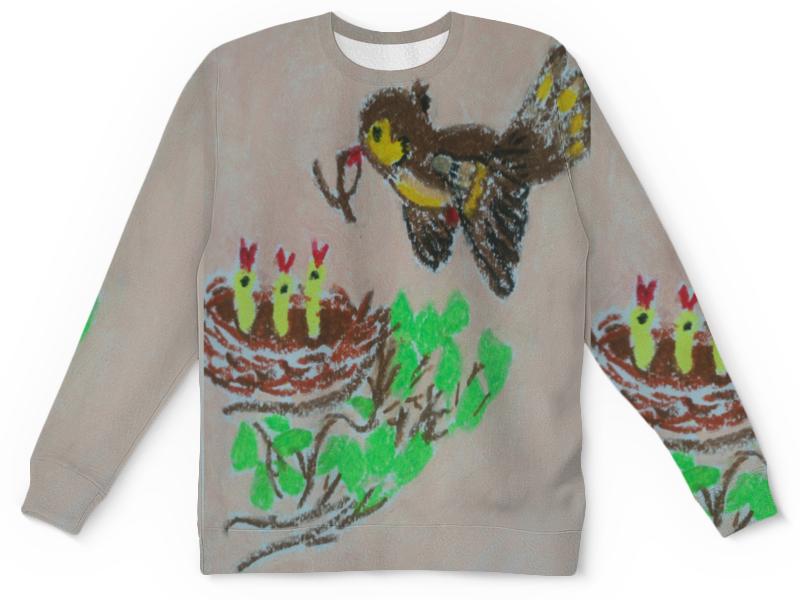 Printio Детский свитшот с полной запечаткой Птичка