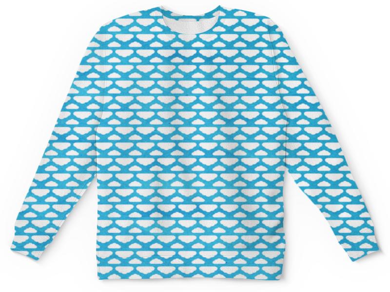 Printio Детский свитшот с полной запечаткой Бело-голубой узор printio толстовка с полной запечаткой бело голубой узор