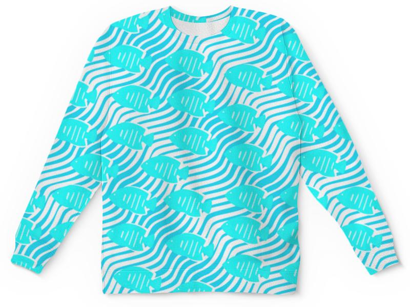 Printio Детский свитшот с полной запечаткой Тропические рыбки