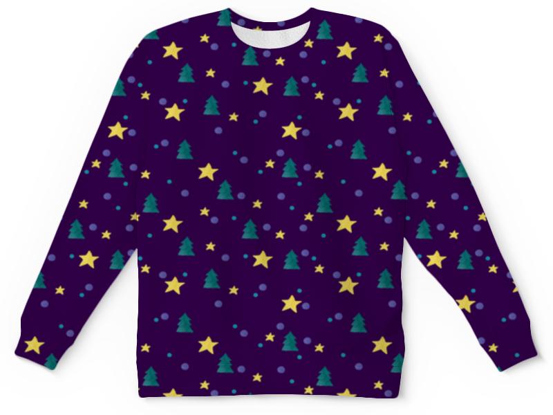 Printio Детский свитшот с полной запечаткой Елки и звезды детский свитшот унисекс printio елки и звезды