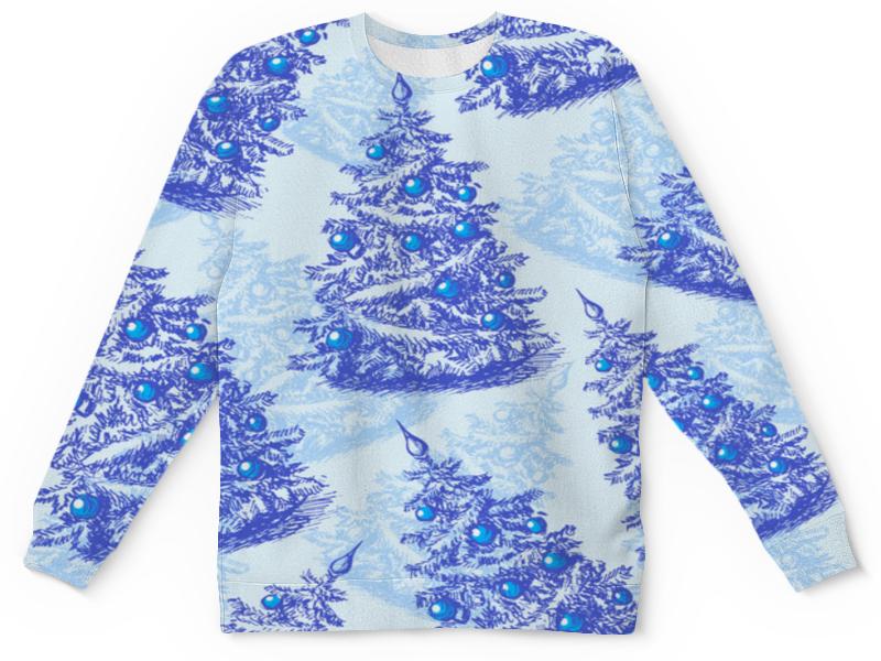 Printio Детский свитшот с полной запечаткой Снежные елки детский свитшот унисекс printio елки и звезды