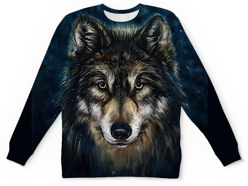 Printio Детский свитшот с полной запечаткой Волки фэнтези. седой волк printio рюкзак 3d волки фэнтези седой волк