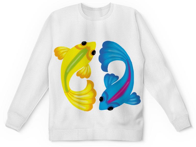 Printio Детский свитшот с полной запечаткой Рыбки