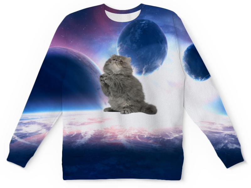Фото - Printio Детский свитшот с полной запечаткой кот в космосе printio детский свитшот с полной запечаткой в космосе