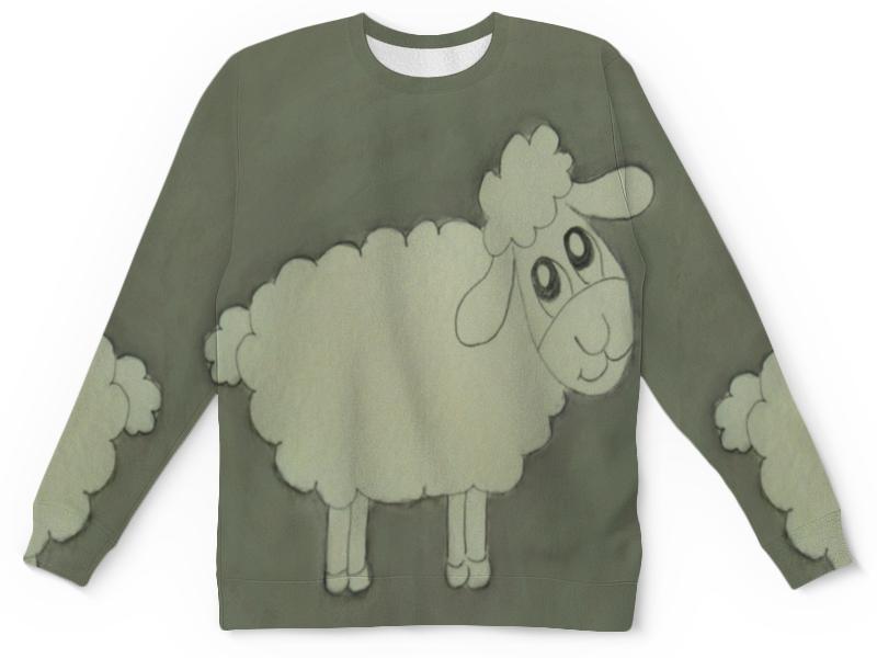 printio свитшот мужской с полной запечаткой свитшот овечка Printio Детский свитшот с полной запечаткой Детский овечка
