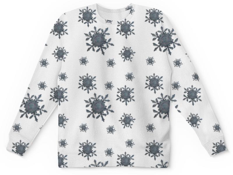Printio Детский свитшот с полной запечаткой Снежинки