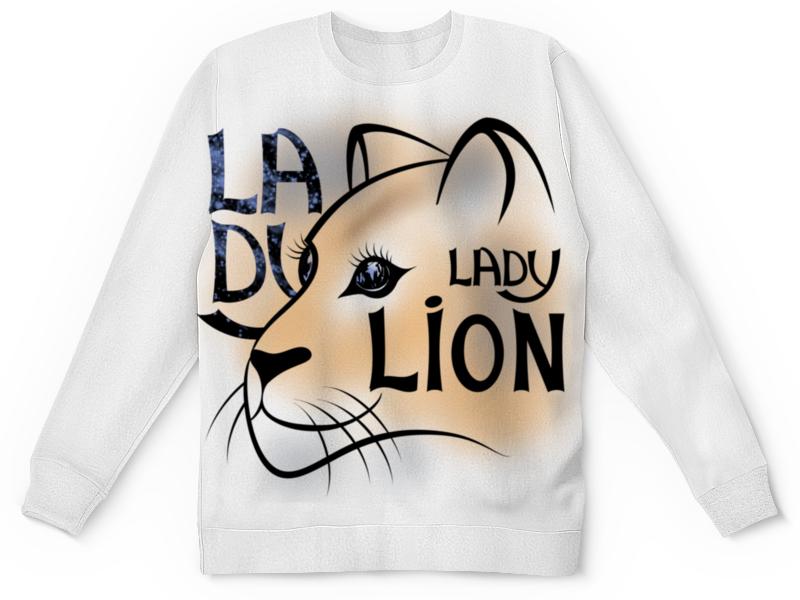 Printio Детский свитшот с полной запечаткой Lady lion