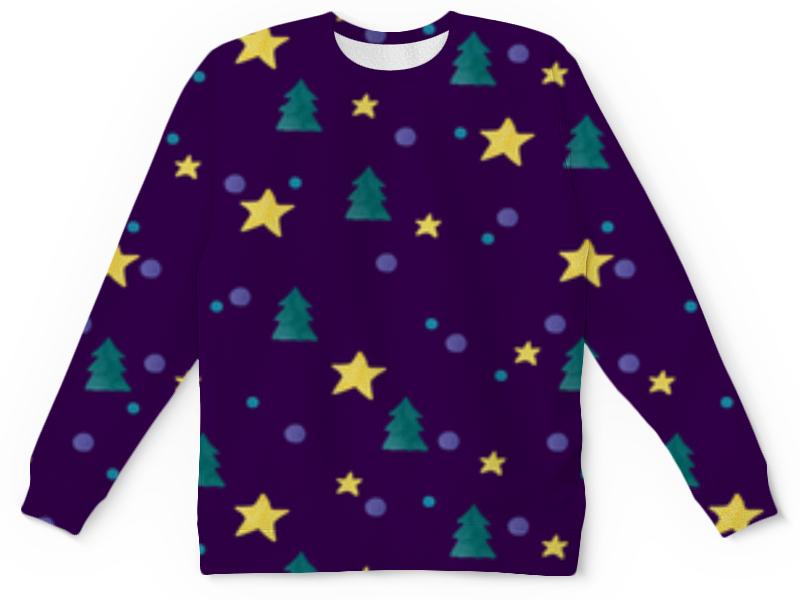 Printio Детский свитшот с полной запечаткой Звезды и елки детский свитшот унисекс printio елки и звезды