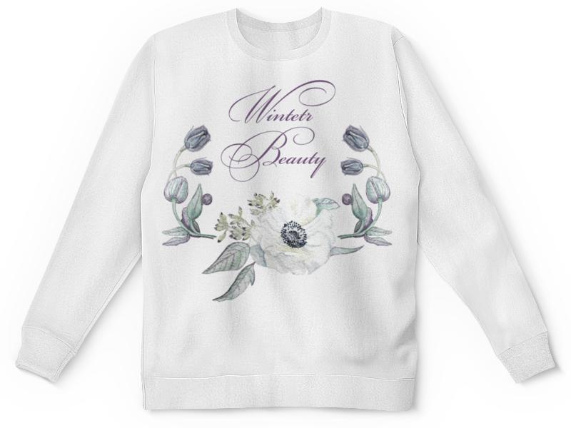 Printio Детский свитшот с полной запечаткой Winter beauty (зимняя красота)