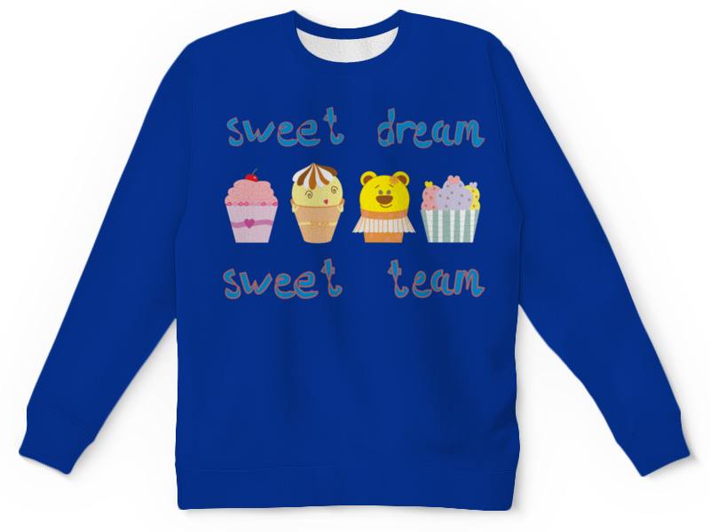 Printio Детский свитшот с полной запечаткой Sweet dream - sweet team свитшот sweet years sweet years sw012emglfs7
