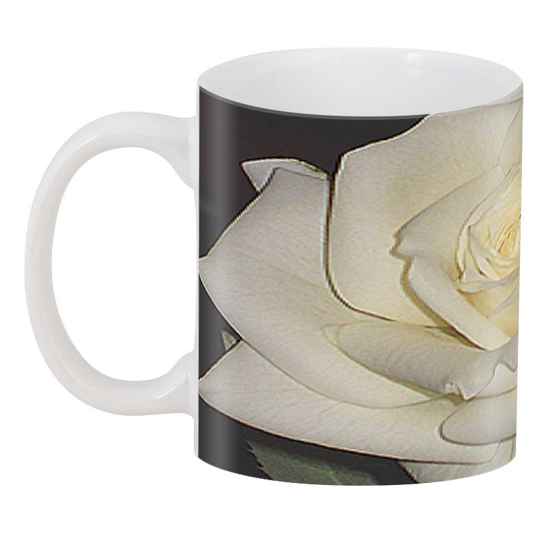 Printio 3D кружка Белая роза.
