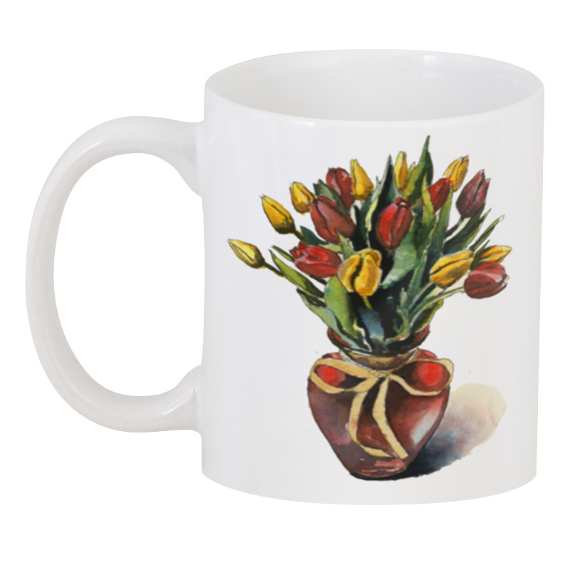 Printio 3D кружка Ваза с тюльпанами